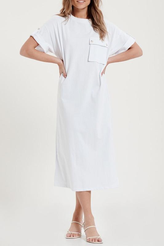Sierra Shirt Dress in White