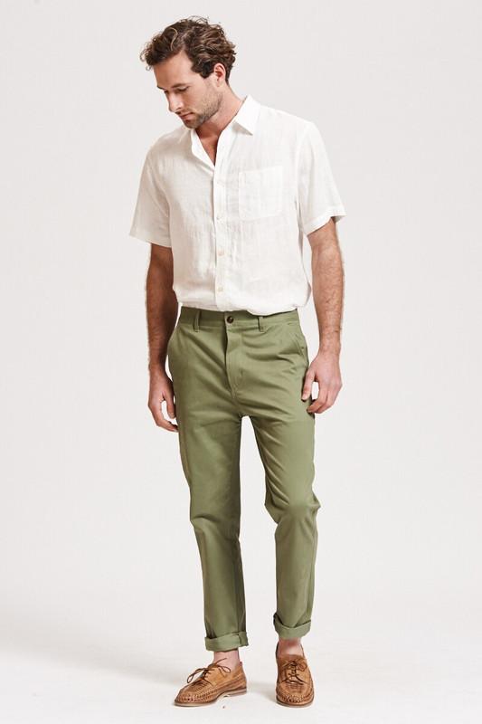 Mister Italian Slim Pant in Khaki