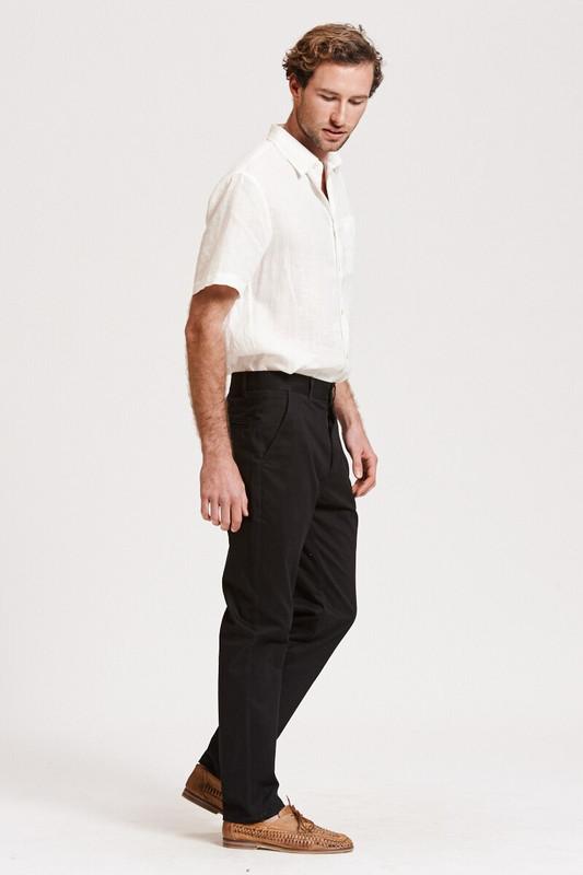 Mister Italian Slim Pant in Black