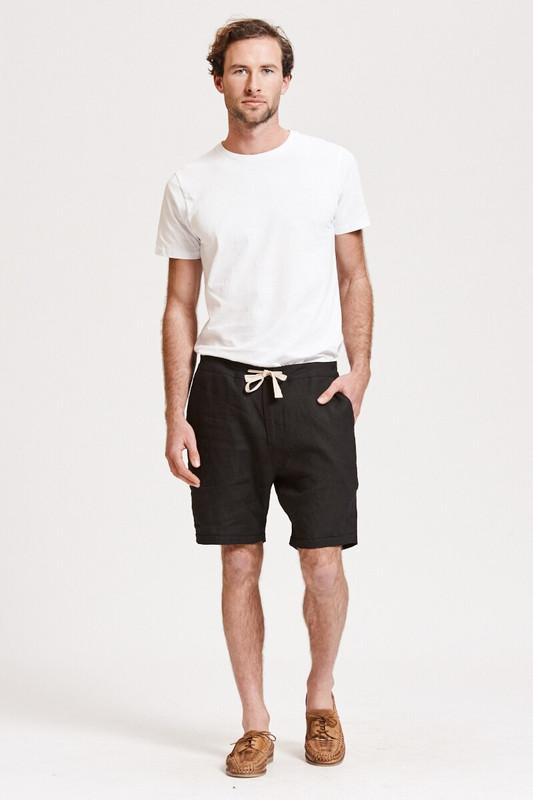 Mister Linen Short in Black