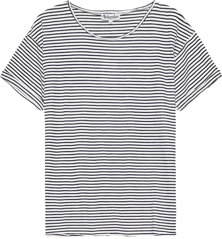 Mister Relaxed Tee in Navy Stripe