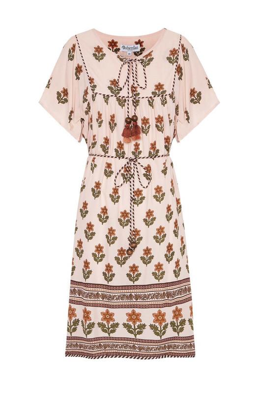 Belle Dress in Golden Flora