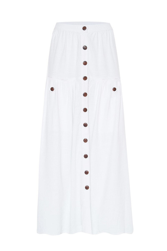 Prairie Skirt in White