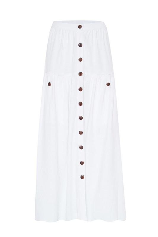 Prairie Skirt in White