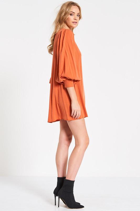 Billow Sleeve Shell Dress in Sunset