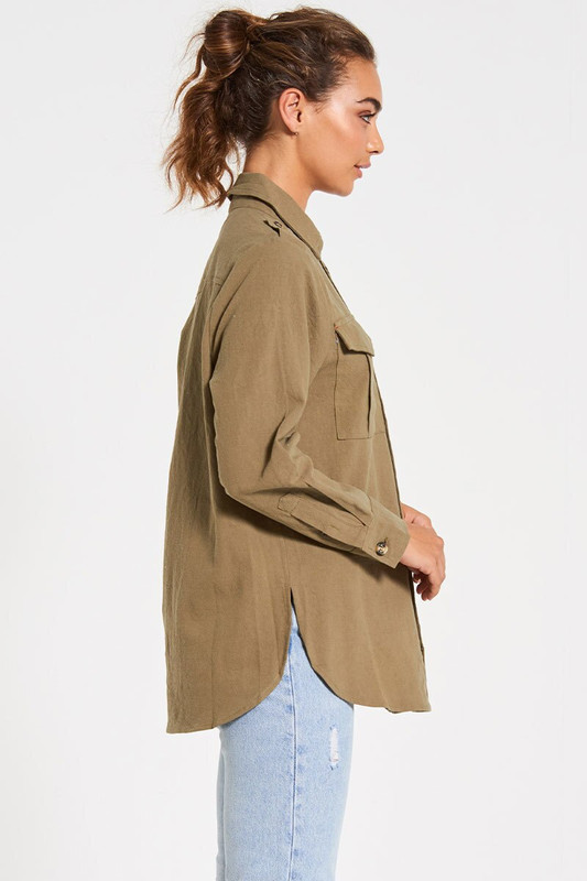 Stevie Shirt in Khaki