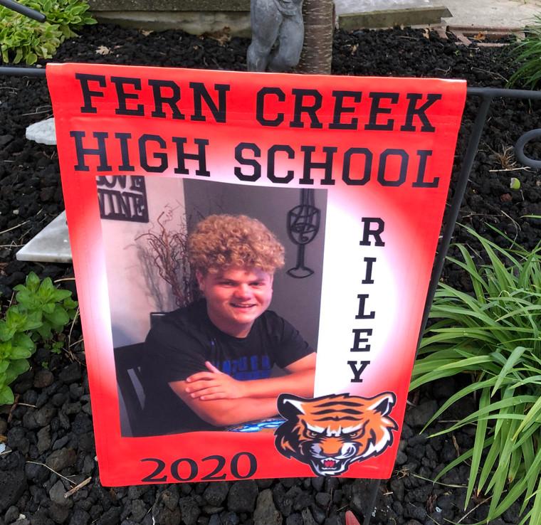 high school yard flag