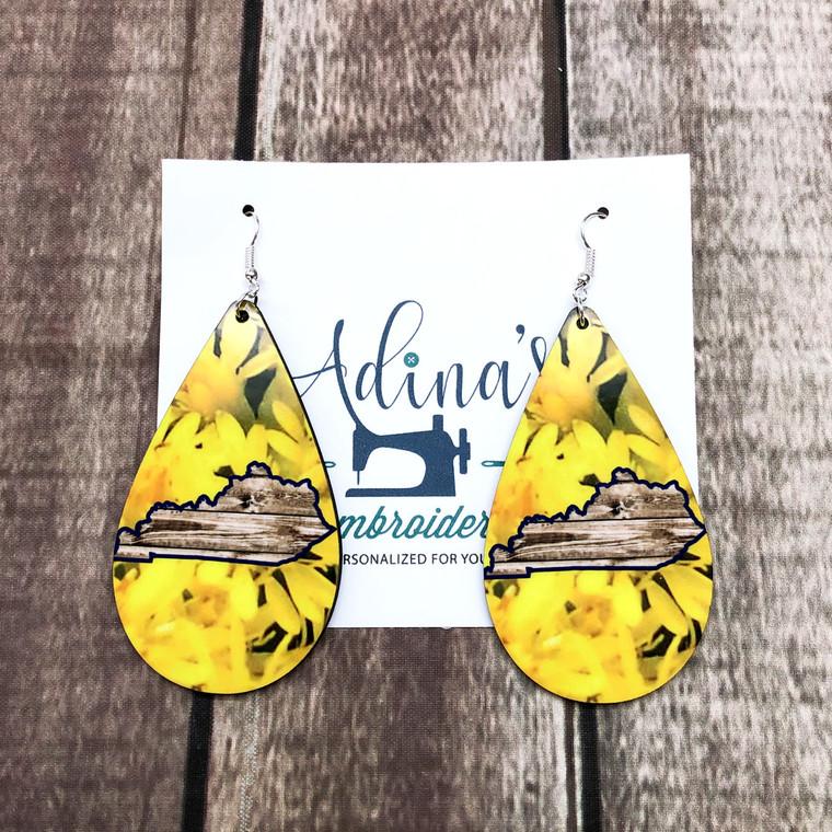 kentucky state flower earrings