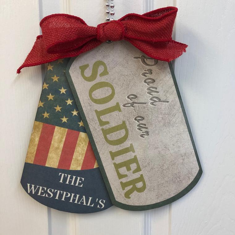 Military Dog Tag Door Hanger