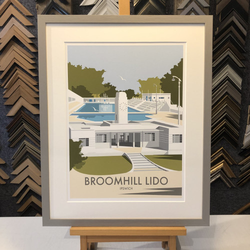 dave thompson broomhill lido ipswich print framed art