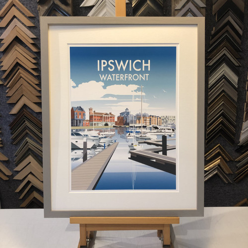 travel poster dave thompson print ipswich waterfront