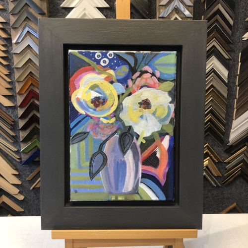 mary brewster floral painting acrylic art original framed