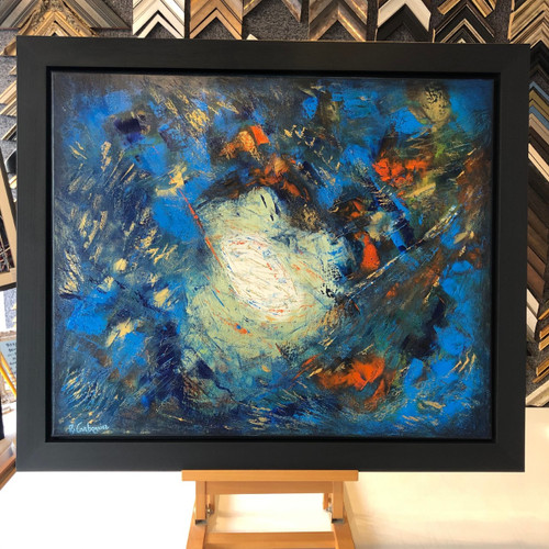 abstract myriam carbonnier acrylic on canvas framed original painting