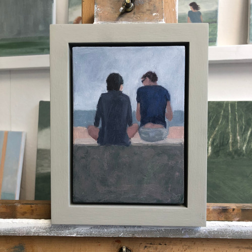 Delia Tournay-Godfrey - Young Couple on the Sea Wall SOLD
