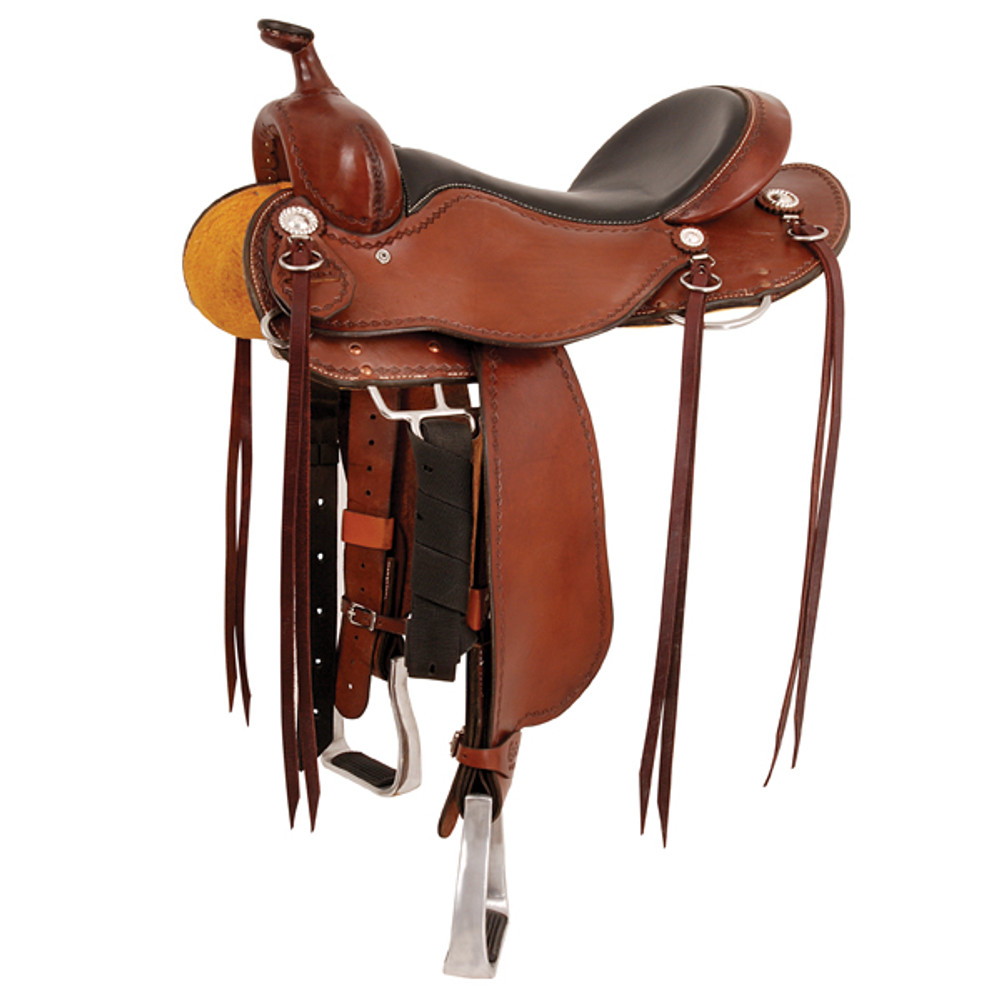 Cashel Trail Saddle With Horn uses the Martin Axis Tree. Light on weight and heavy on quality. Soft, supple leather and a streamlined design makes this the ultimate trail saddle. Stirrup fenders are positioned to give the rider a comfortable leg angle for stability, comfort and security. Double padded, ultra soft seat provides advanced rider comfort.
