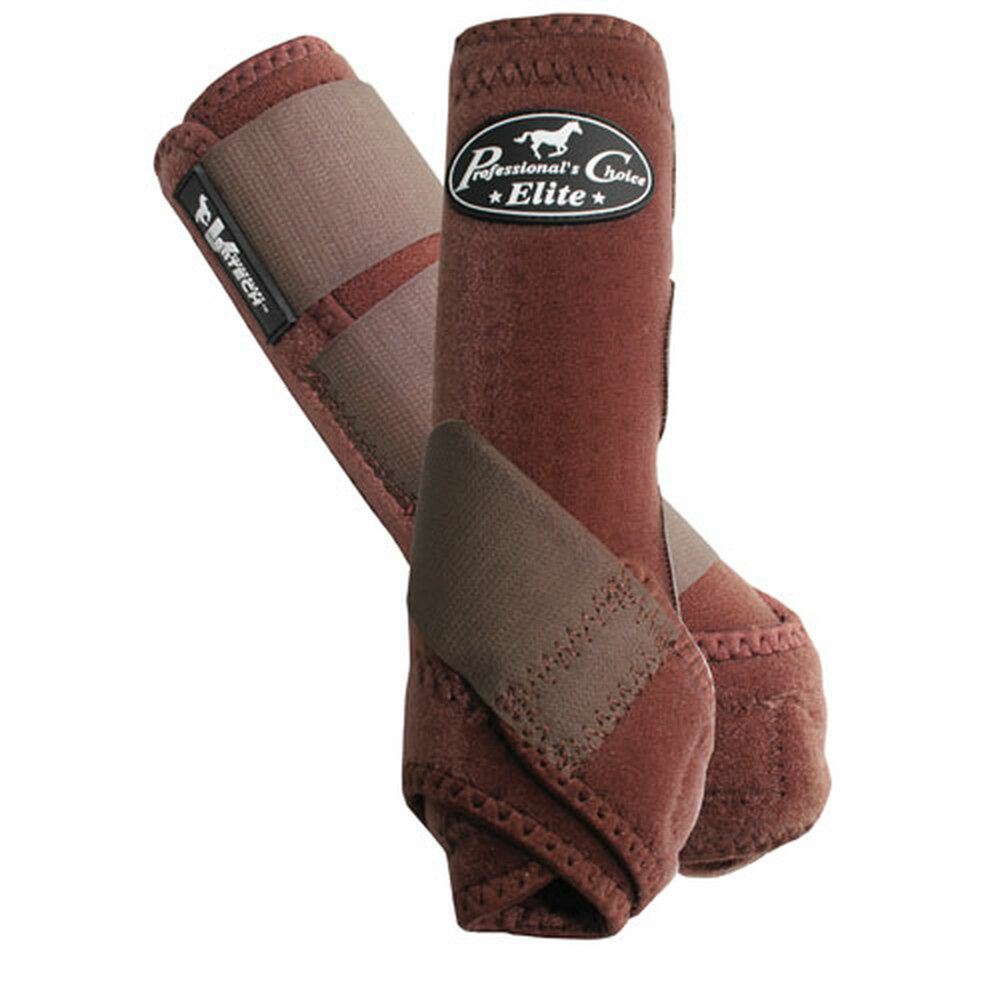 Professional's Choice Ventech Elite Value Pack in Chocolate.  The value combo pack includes both the front and rear Professional's Choice Ventech Elite Boots at a discounted price.