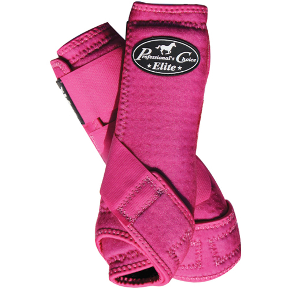 Professional's Choice Ventech Elite Value Pack in Raspberry.  The value combo pack includes both the front and rear Professional's Choice Ventech Elite Boots at a discounted price.
