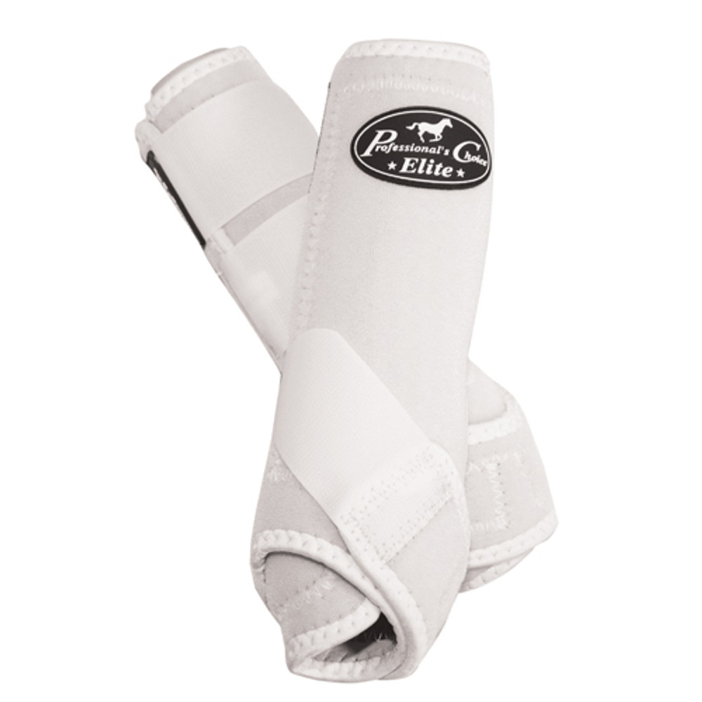 Professional's Choice Ventech Elite Value Pack in White.  The value combo pack includes both the front and rear Professional's Choice Ventech Elite Boots at a discounted price.