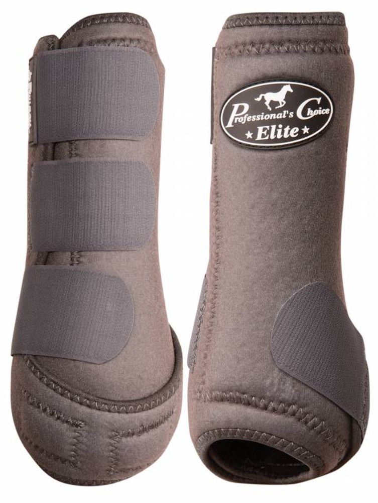 Professional's Choice Ventech Elite Value Pack in Charcoal.  The value combo pack includes both the front and rear Professional's Choice Ventech Elite Boots at a discounted price.