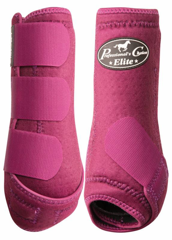 Professional's Choice Ventech Elite Value Pack in Wine.  The value combo pack includes both the front and rear Professional's Choice Ventech Elite Boots at a discounted price.