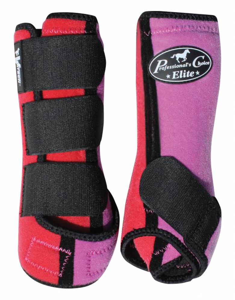 Professional's Choice Ventech Elite Value Pack in Coral/Lavendar.  The value combo pack includes both the front and rear Professional's Choice Ventech Elite Boots at a discounted price.