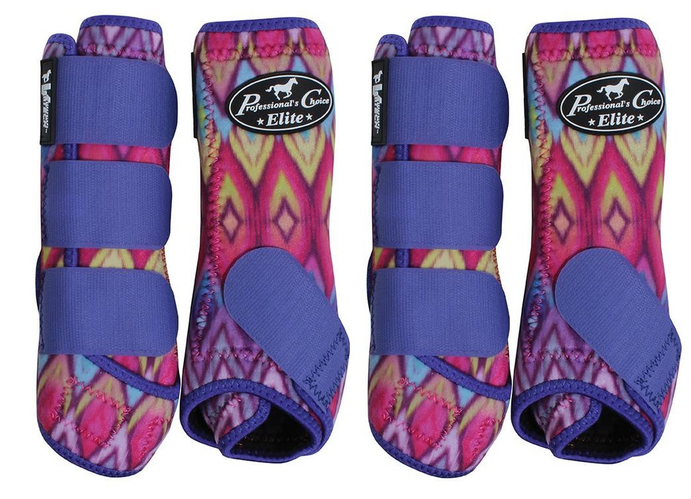Professional's Choice Ventech Elite Value Pack in Limited Edition Sunburst.  The value combo pack includes both the front and rear Professional's Choice Ventech Elite Boots.