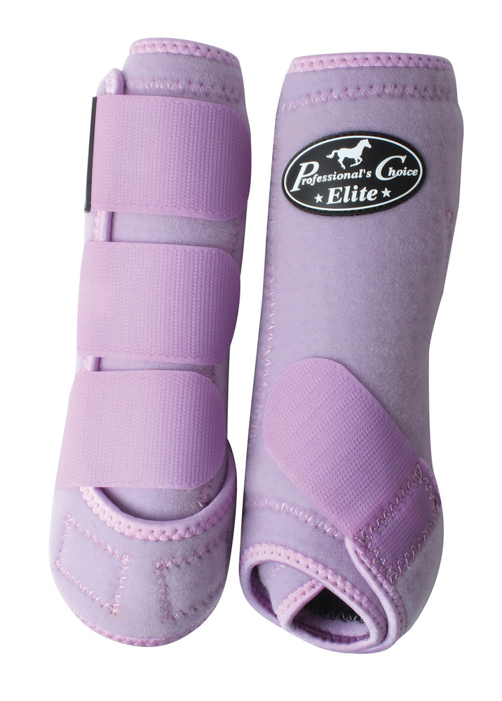 Professional's Choice Ventech Elite Value Pack in Lilac.  The value combo pack includes both the front and rear Professional's Choice Ventech Elite Boots.