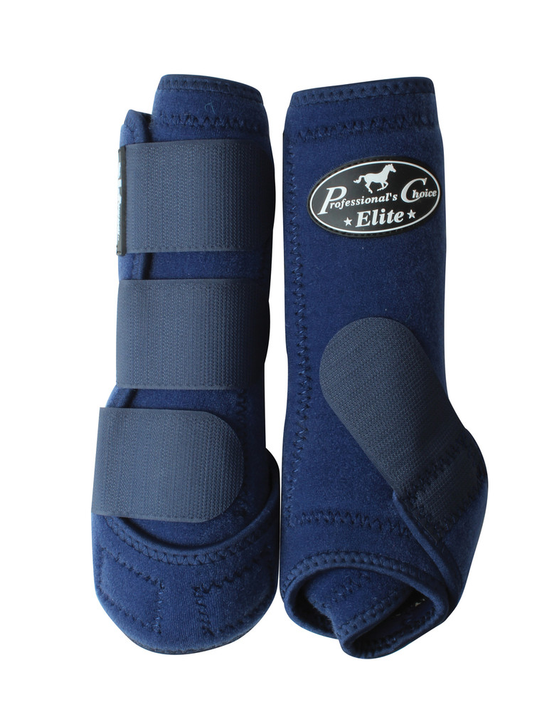 Professional's Choice Ventech Elite Value Pack in Navy.  The value combo pack includes both the front and rear Professional's Choice Ventech Elite Boots.