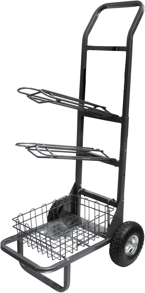 High Country Plastics Saddle Rack Cart.  The best cart we've seen.