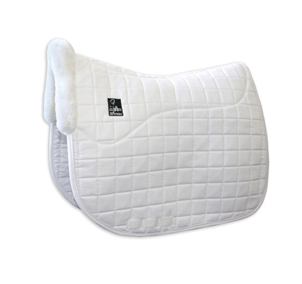 Steffen Peters Shearling Dressage Pad by Professionals Choice in white