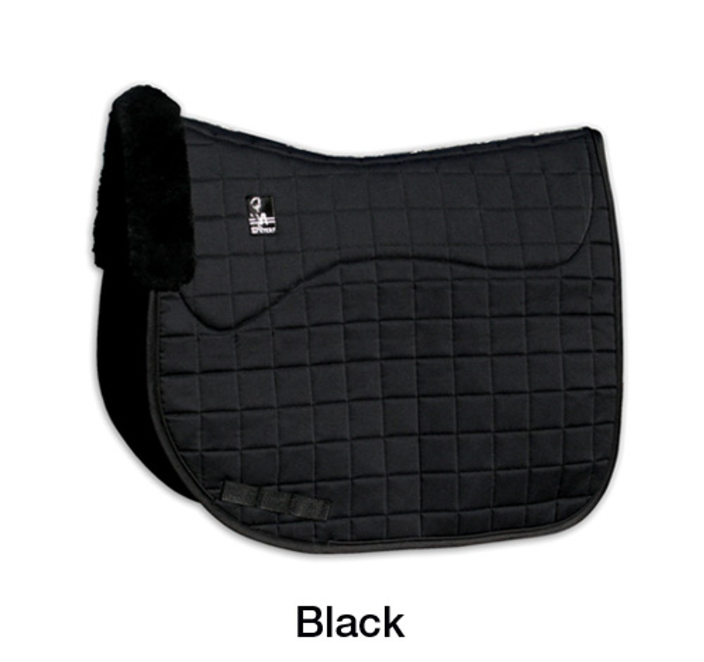 Steffen Peters Shearling Dressage Pad by Professionals in black