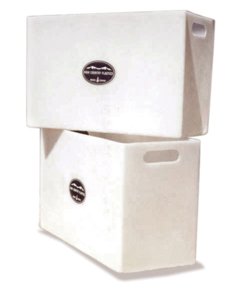 High Country Plastics Pack Pannier Liners; turns your existing standard soft sided panniers into rigid wall panniers to make it easier to load and unload items.  Helps prevent damage to packed items.