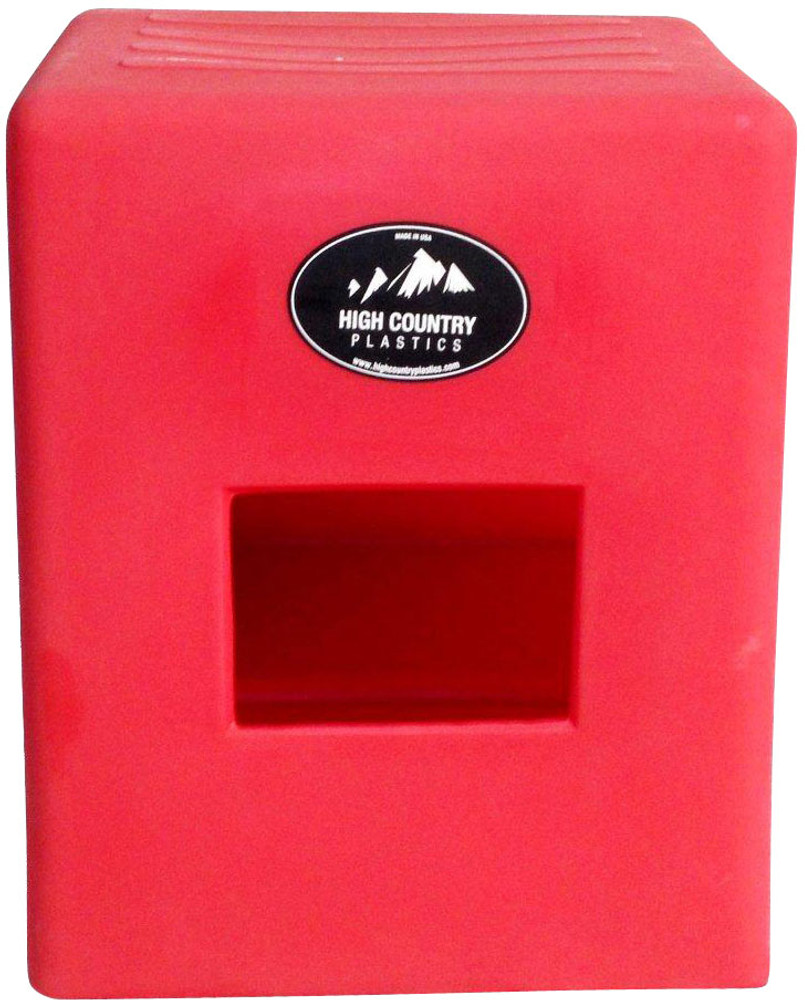 High Country Plastics 2 Step Horse Mounting Block; a great step and best seller; Red