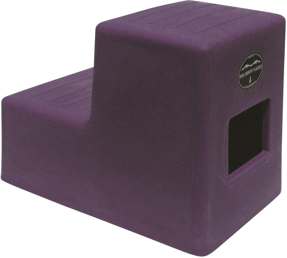 High Country Plastics 2 Step Horse Mounting Block; a great step and best seller; Purple