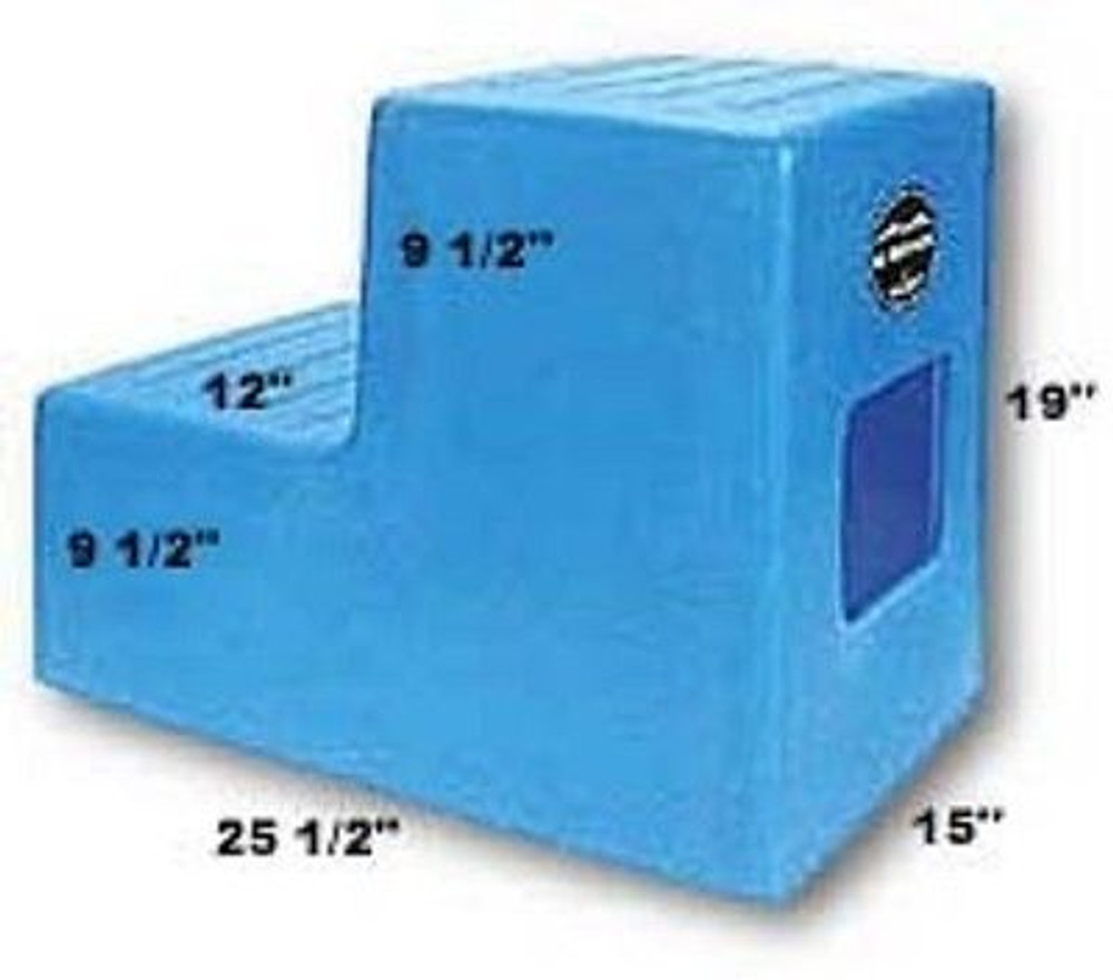 High Country Plastics 2 Step Horse Mounting Block; a great step and best seller; blue