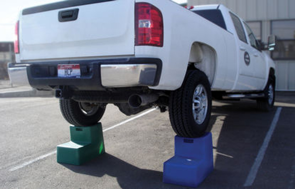 High Country Plastics 2 Step Mounting Block.  Do not try this at home... demonstrates strength of mounting step.