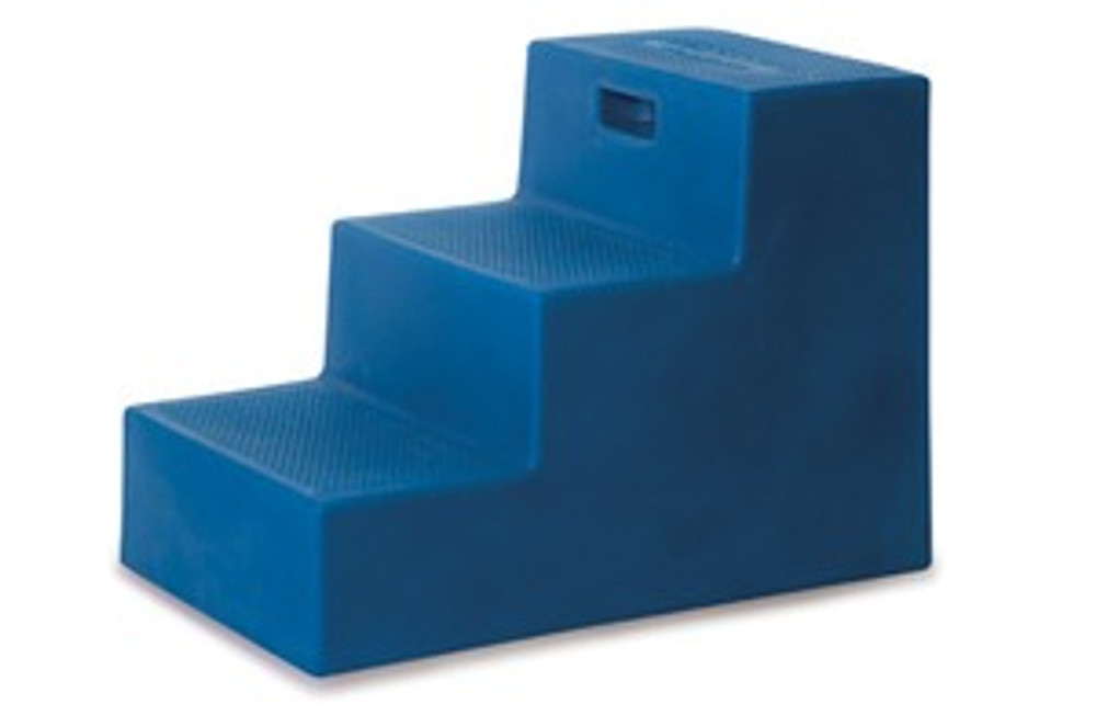 High Country Plastics 3 Step Mounting Block side view showing deeper depth of steps for safer use.