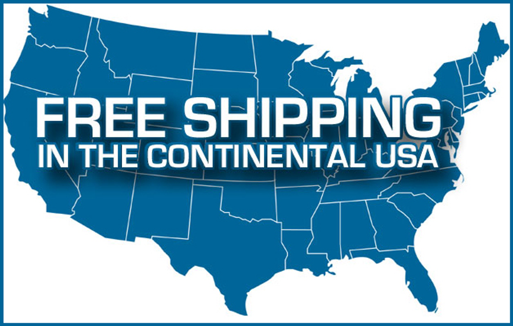 Free Shipping to the lower 48.