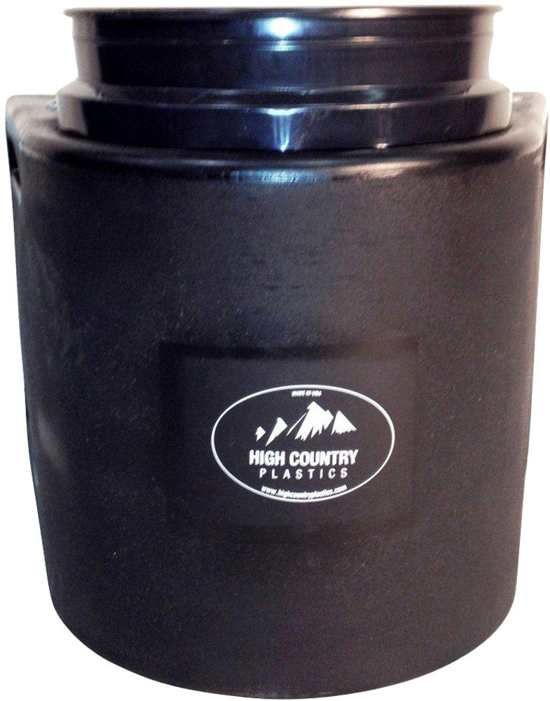 High Country Plastics Insulated Water Bucket Holder, Bucket, and float; when being used can keep water from freezing down to 15 degrees. Black