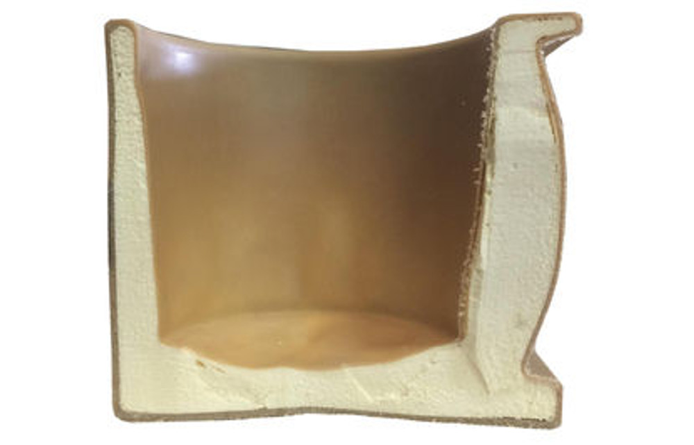 Heavy Insulation; side view of the High Country Plastics heavy insulated water bucket holder.