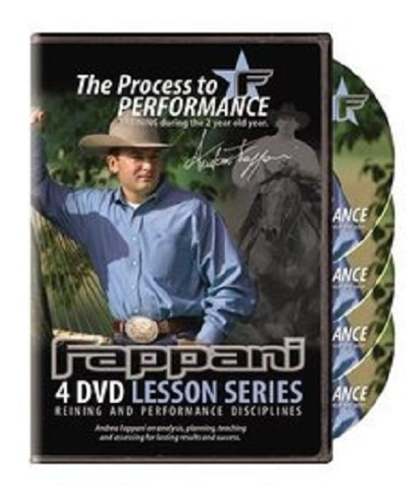 Andrea Fappani The Process to Performance (2 year old) DVD set; 4 DVDs included in this extraordinary training package.  One of the best under saddle courses we've seen and a must have for every Western rider.