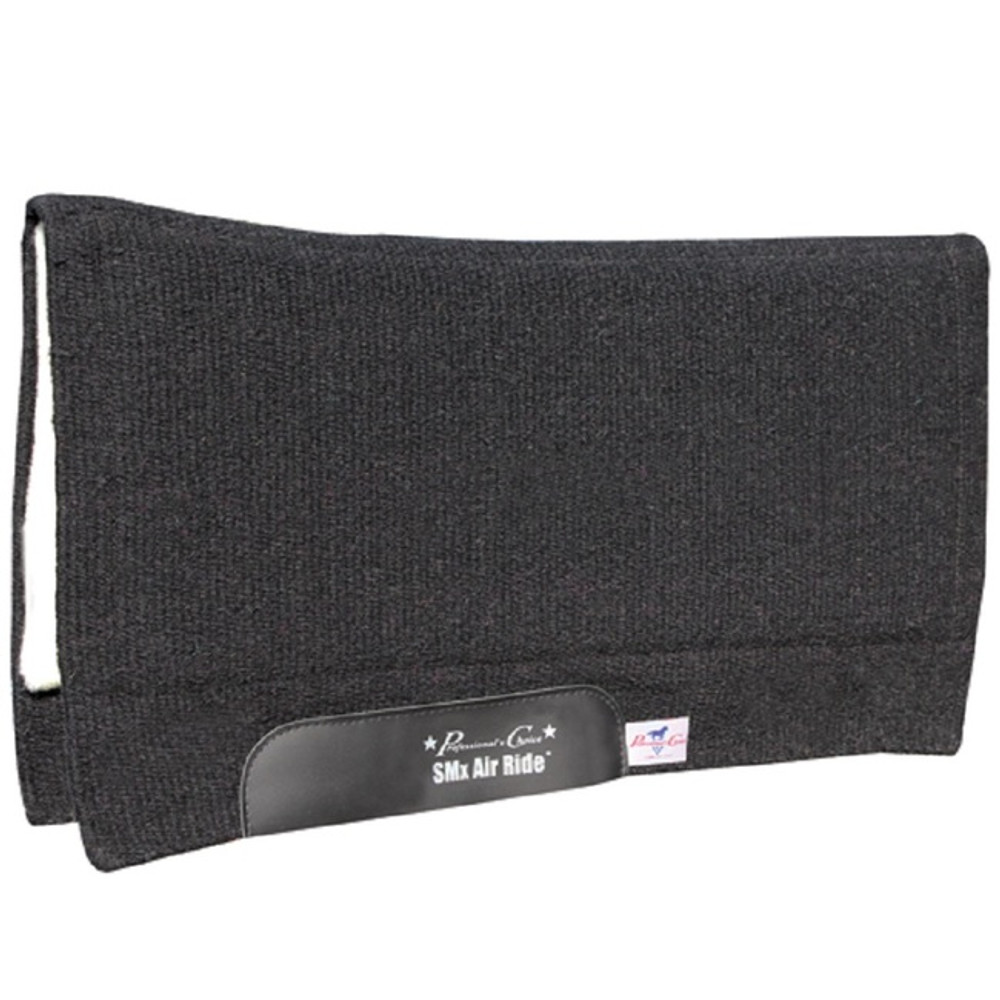 Professional's Choice Comfort Fit SMx Heavy Duty Air Ride Western Saddle Pad; solid black design