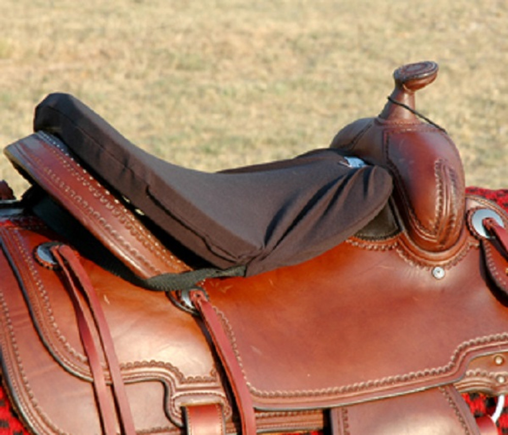 Cashel Tush Cushion Luxury; best for large framed riders who fill their saddle and have cantle pressure points.