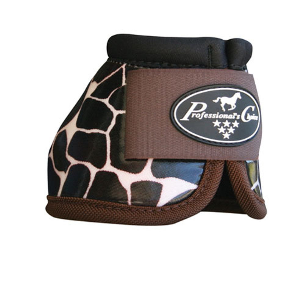 Professional's Choice Secure Fit Overreach bell boots Giraffe - get them before they sell out.  If not sold out already, check out the Giraffe elite boots we carry.  These bells go well with most tack to add a little personality.