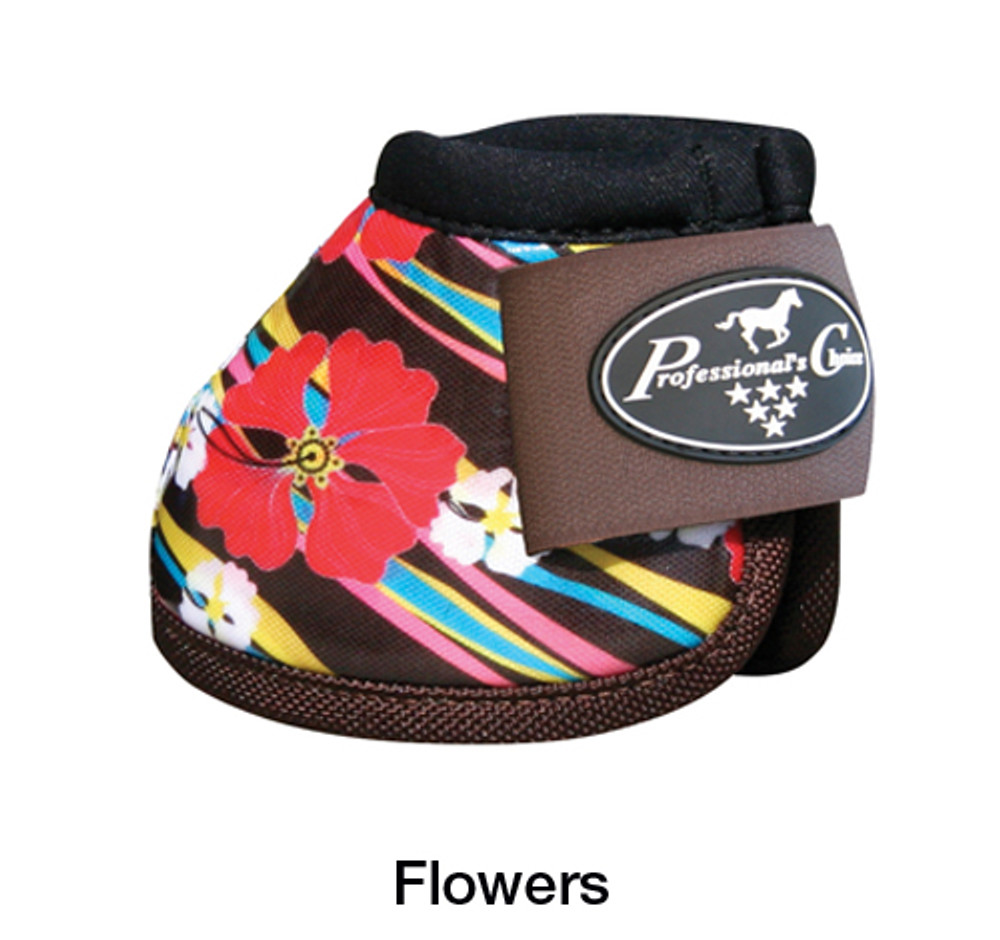 Professional's Choice Secure Fit Overreach bell boots Flowers - get them before they sell out.  These bells go well with most tack to add a little personality.