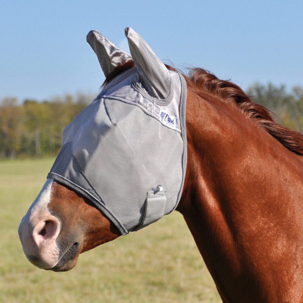 Cashel Crusader Premium Fly Mask in Standard with Ears Style; color Grey