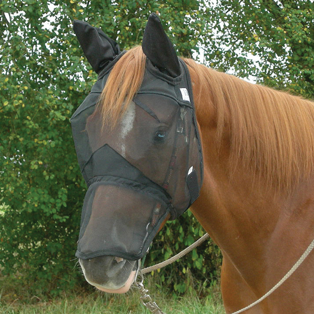Cashel Quiet Ride Fly Mask.  Finally a fly mask for when you ride making it safer and more enjoyable for you and your horse!