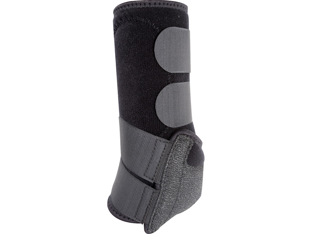The Legacy2 uses an improved cradle system providing improved support and durability. Shown is the Classic Equine Legacy2 Front & Hind Support Boots in Black.  www.DiscountHorseSupplies.com