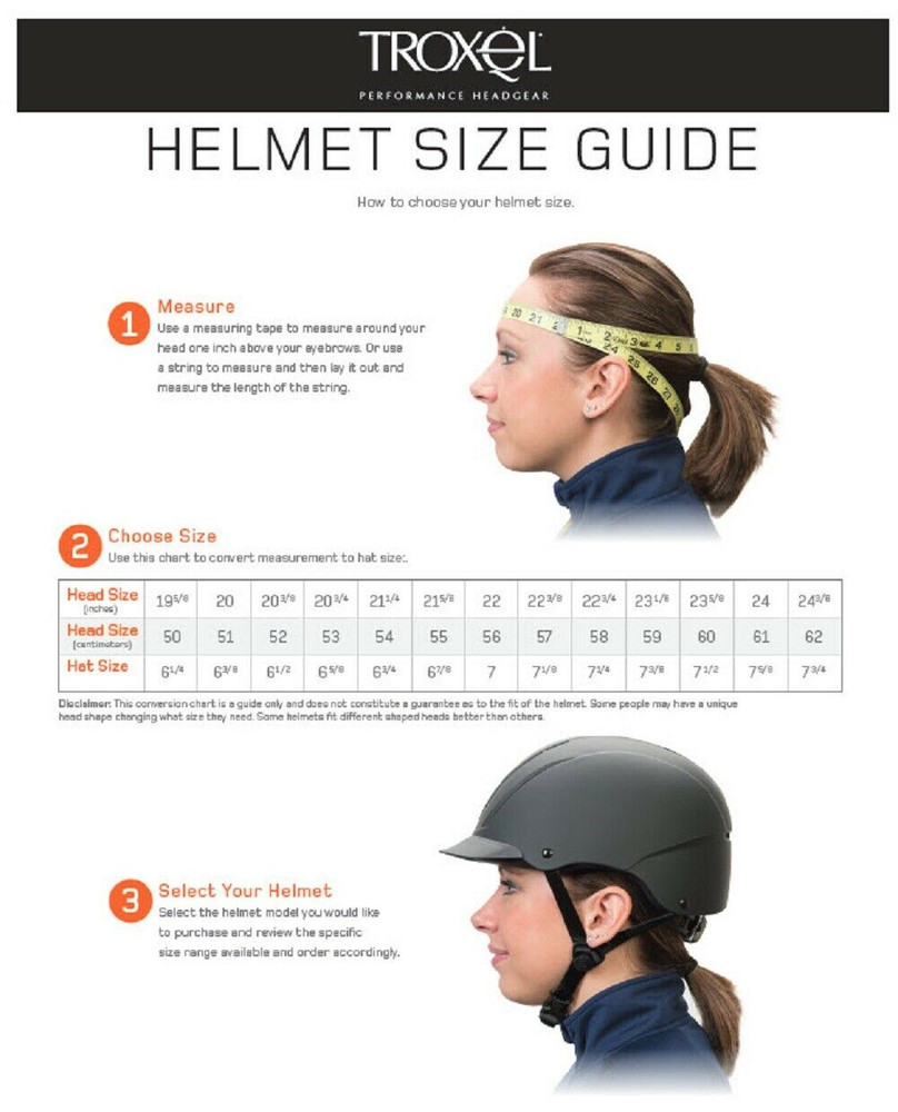 Please view and study the pictures we've placed in this listing's picture area as they will help you pick the correct size helmet.  To measure, place the tape measure snugly around your head at the widest point, about one inch above your eyebrows. Make sure the tape goes over the bump at the back of your head and that it is just above the top of your ears