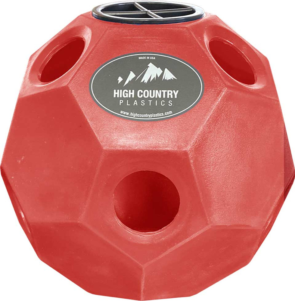 High Country Plastics Hay Play Toy in Red.